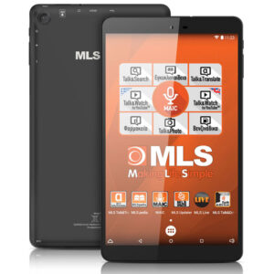 "MLS IQTab Soul Black Tablet 8.0"" 1GB/8GB"