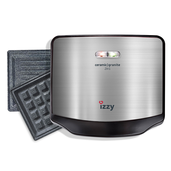 Izzy Ceramic Granite 2 in 1 Σαντουϊτσιέρα - Τοστιέρα 750W