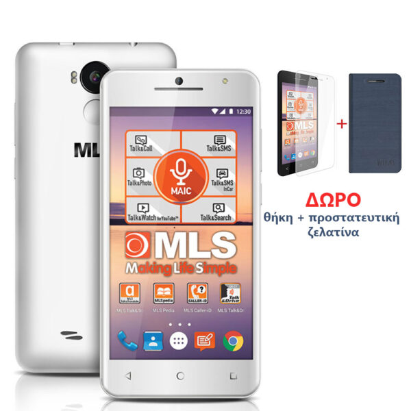 "MLS F5 White Smartphone 5"" 3G DS 2GB/16GB"
