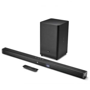 JBL Bar 21 2.1 Soundbar με wireless subwoofer, 300W ισχύ, 1 HDMI IN/ 1 HDMI out (ARC), ασύρματη αναπαραγωγή μέσω Bluetooth και TV Remote Control.